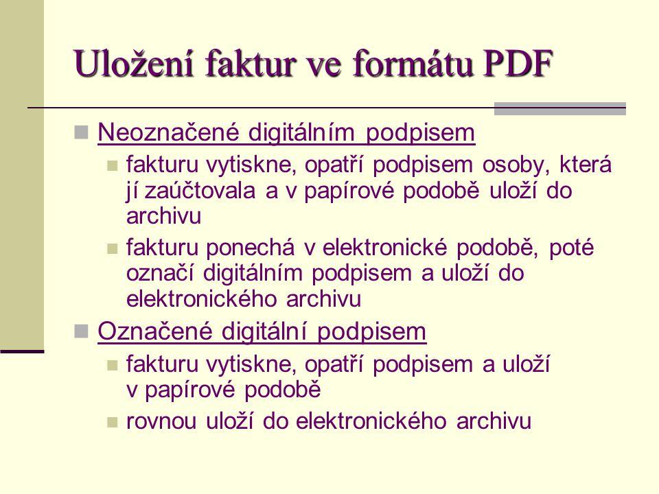 Uložení faktur ve formátu PDF