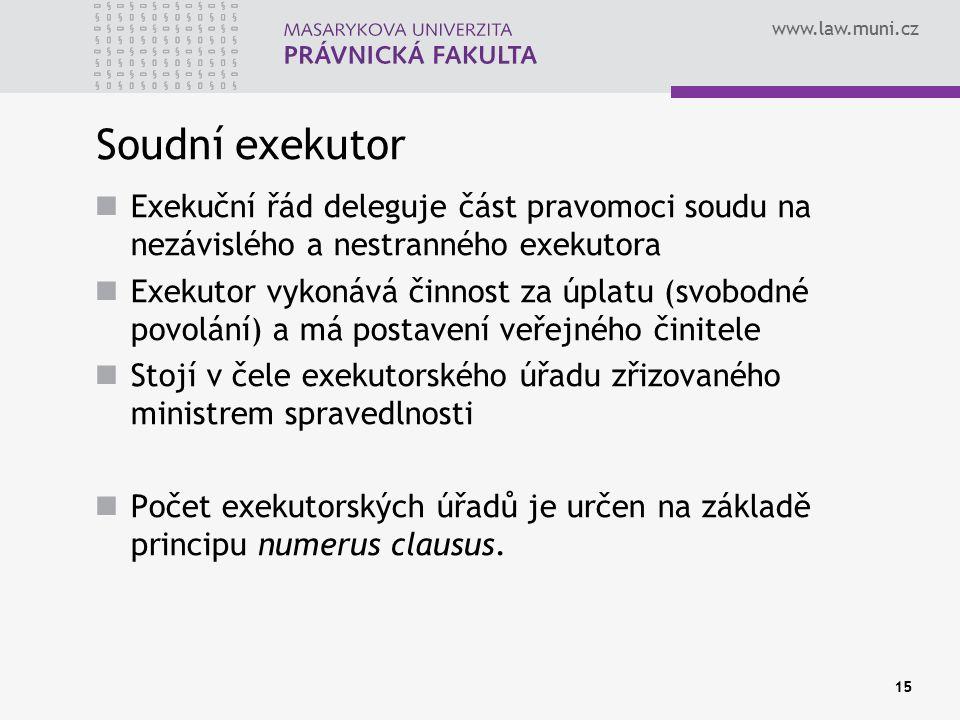 Soudní exekutor Exekuční řád deleguje část pravomoci soudu na nezávislého a nestranného exekutora.