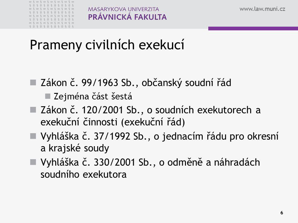 Prameny civilních exekucí