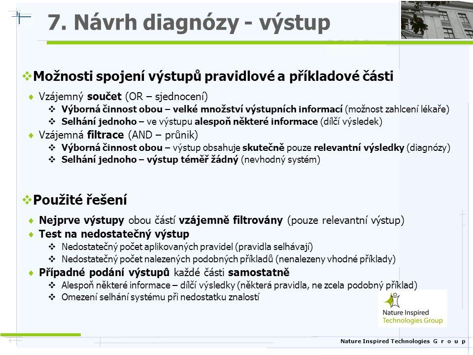 7. Návrh diagnózy - výstup
