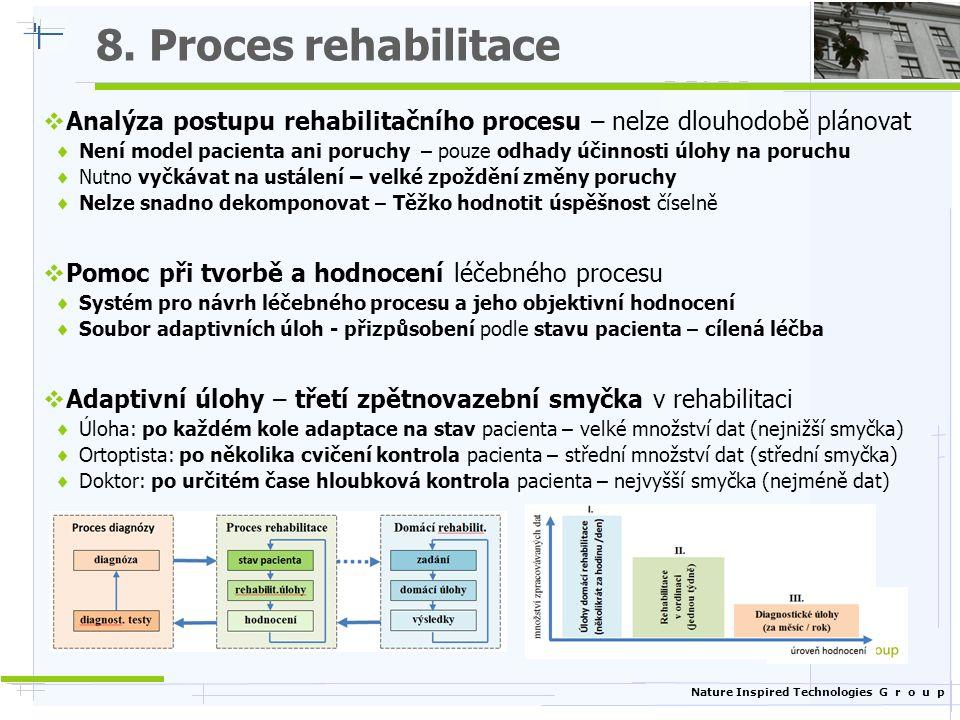 8. Proces rehabilitace Analýza postupu rehabilitačního procesu – nelze dlouhodobě plánovat.