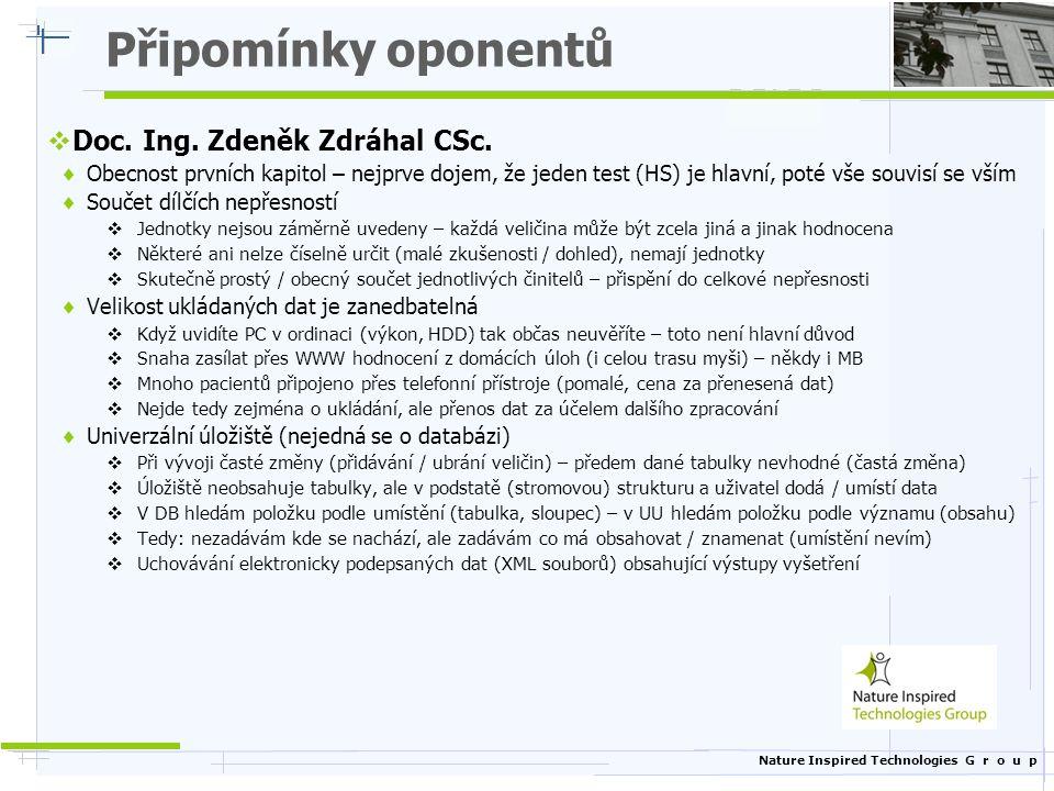 Připomínky oponentů Doc. Ing. Zdeněk Zdráhal CSc.