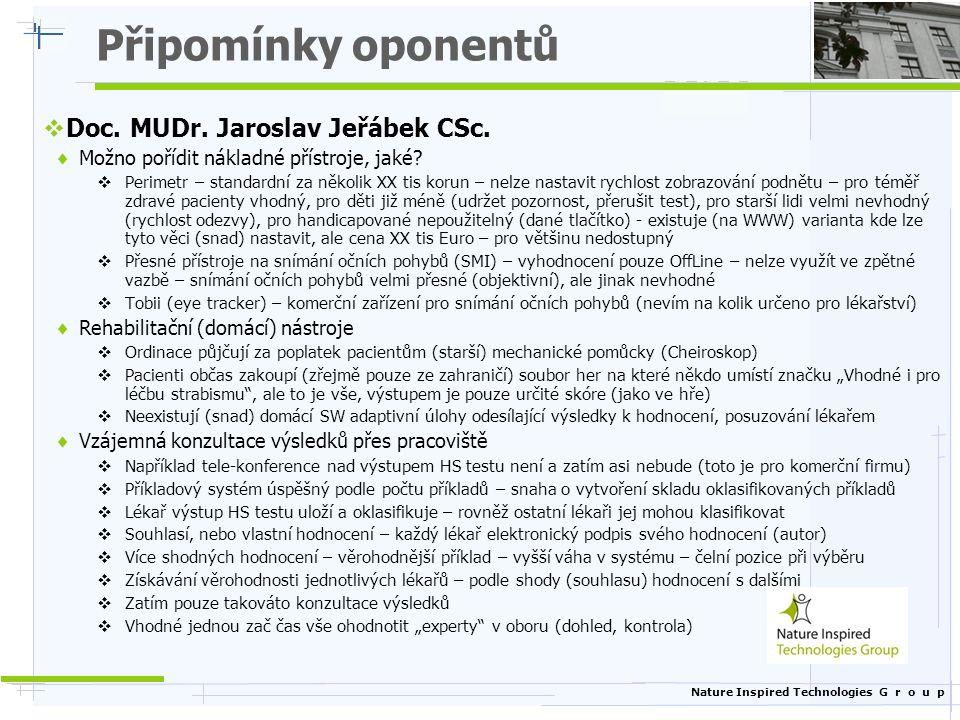 Připomínky oponentů Doc. MUDr. Jaroslav Jeřábek CSc.