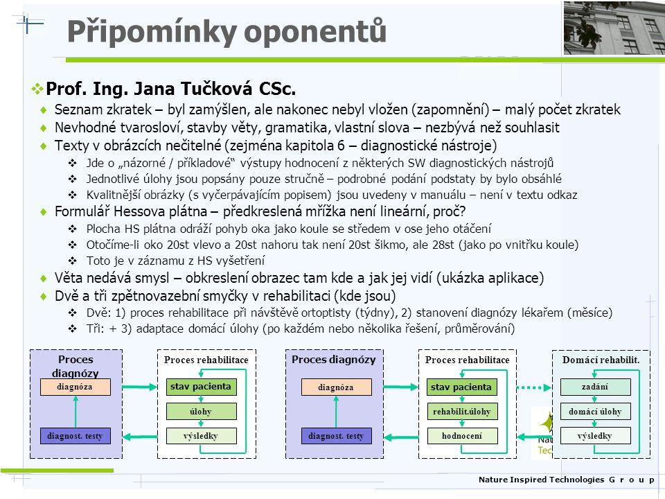 Připomínky oponentů Prof. Ing. Jana Tučková CSc.
