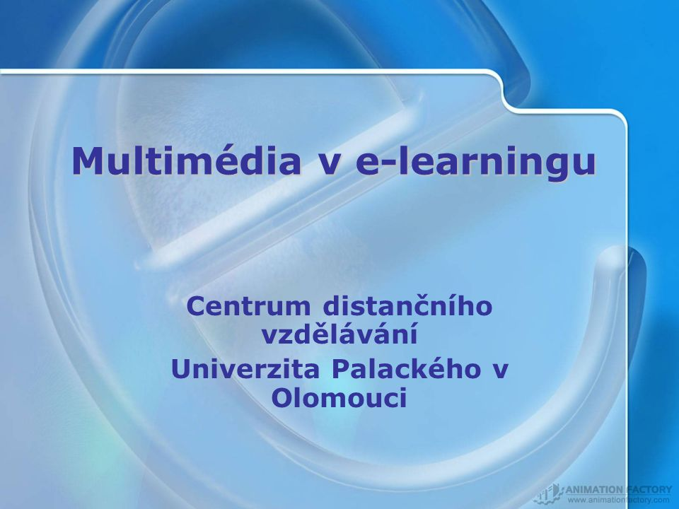 Multimédia v e-learningu