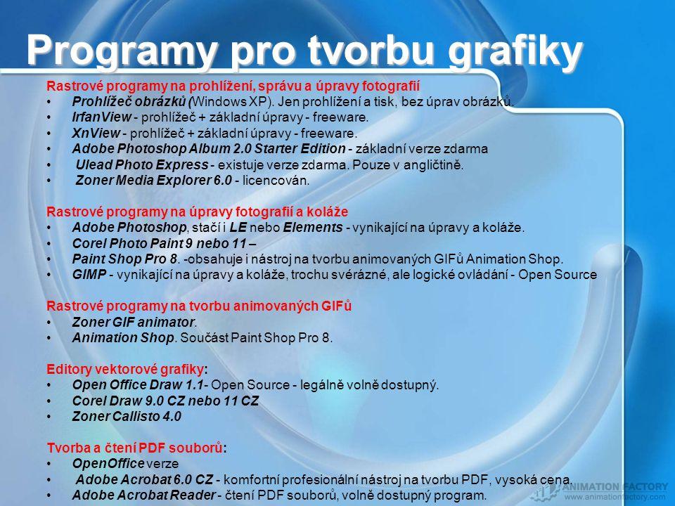 Programy pro tvorbu grafiky