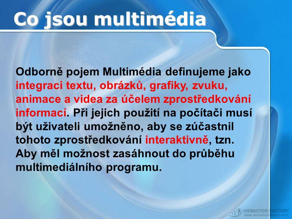 Co jsou multimédia