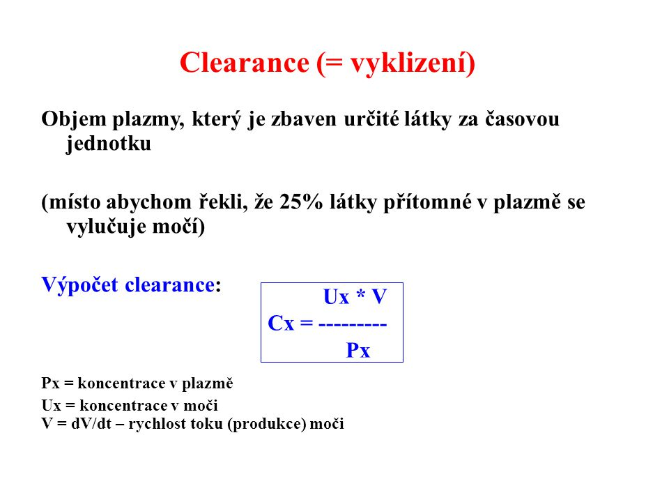 Clearance (= vyklizení)