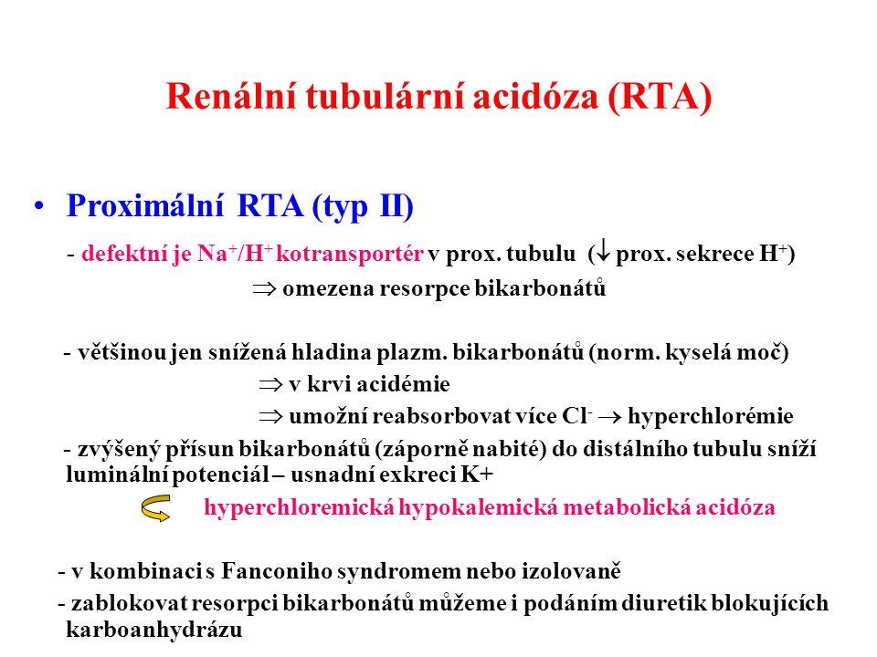 Renální tubulární acidóza (RTA)