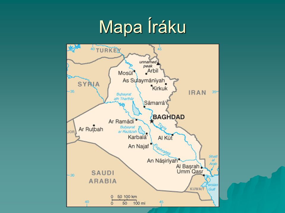 Mapa Íráku