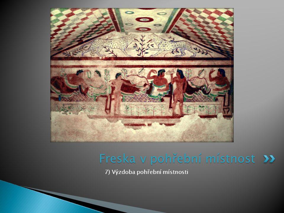Freska v pohřební místnost
