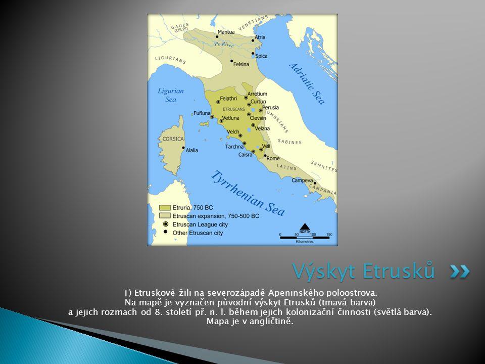 Výskyt Etrusků