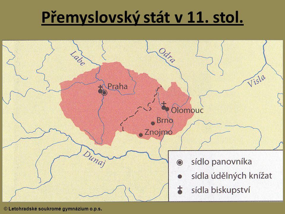 Přemyslovský stát v 11. stol.