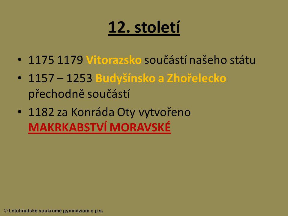 12. století 1175 1179 Vitorazsko součástí našeho státu