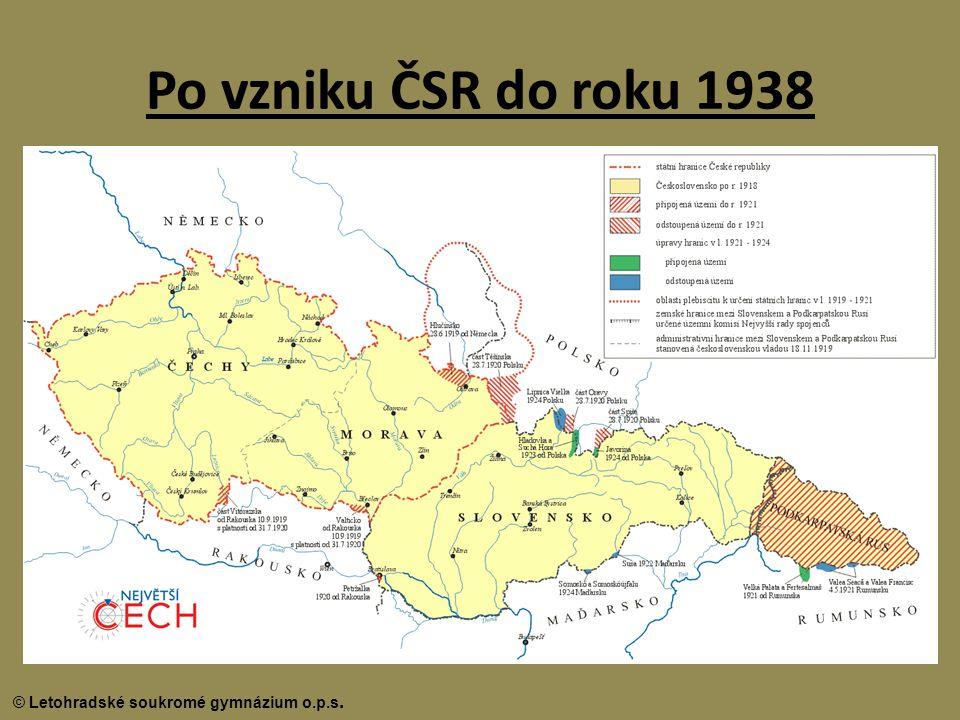 Po vzniku ČSR do roku 1938
