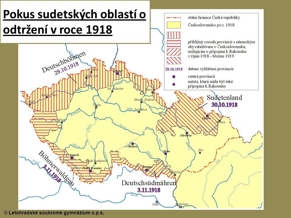 Pokus sudetských oblastí o odtržení v roce 1918