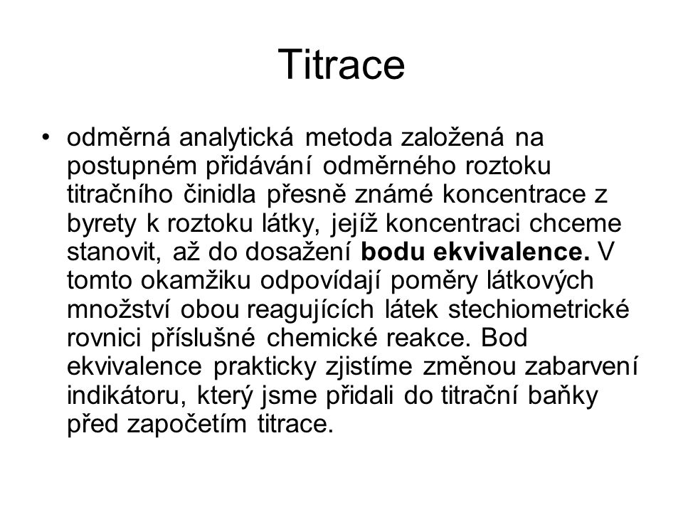 Titrace