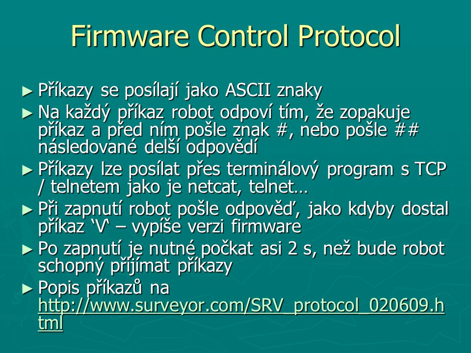 Firmware Control Protocol