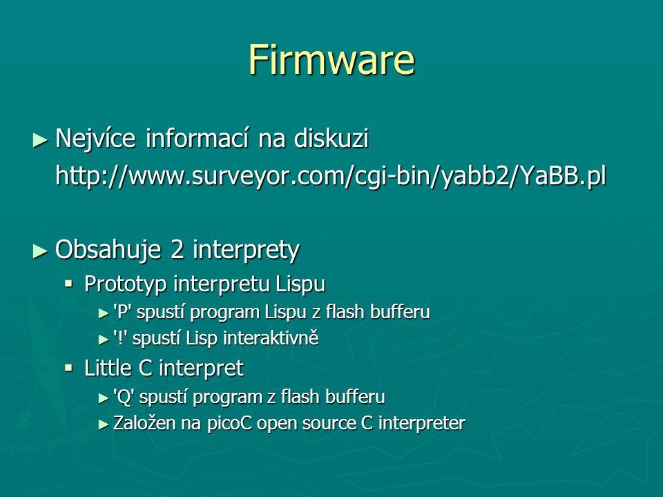 Firmware Nejvíce informací na diskuzi