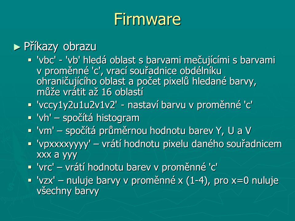 Firmware Příkazy obrazu