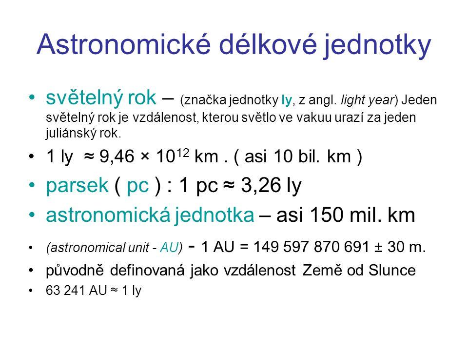 Astronomické délkové jednotky