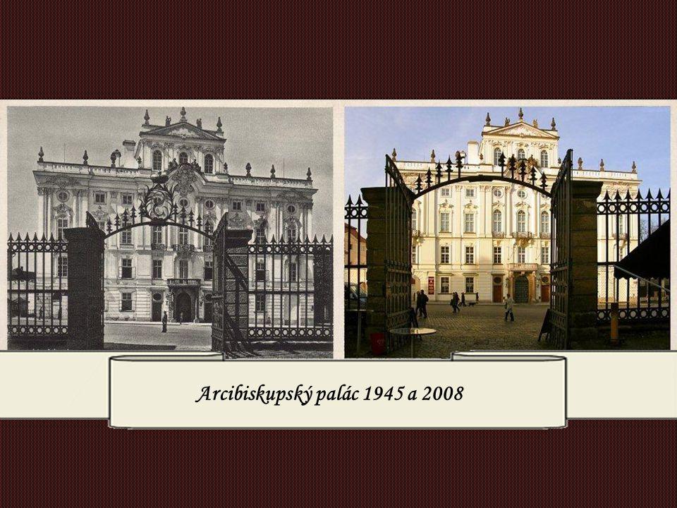Arcibiskupský palác 1945 a 2008