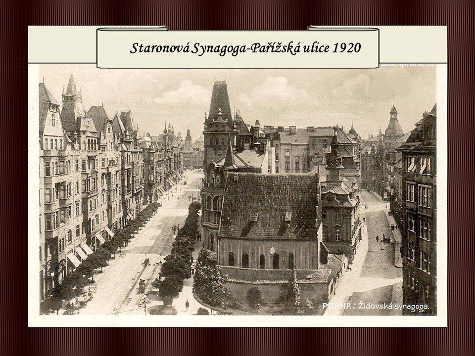 Staronová Synagoga-Pařížská ulice 1920