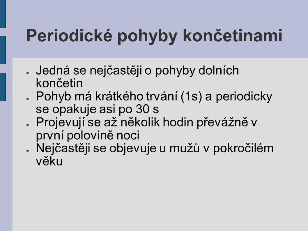 Periodické pohyby končetinami