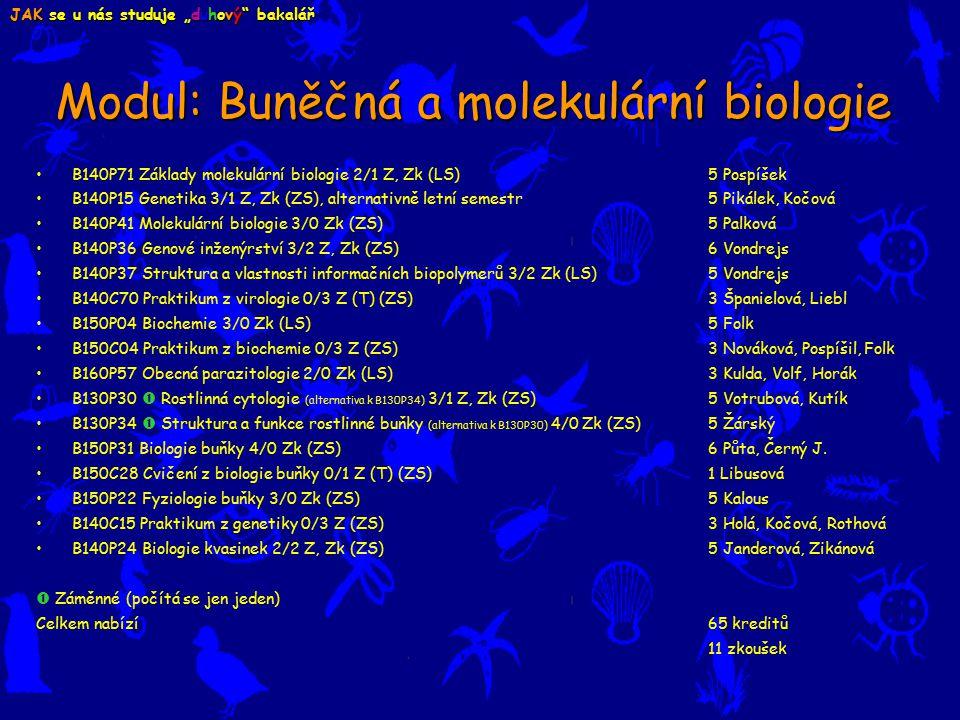 Modul: Buněčná a molekulární biologie