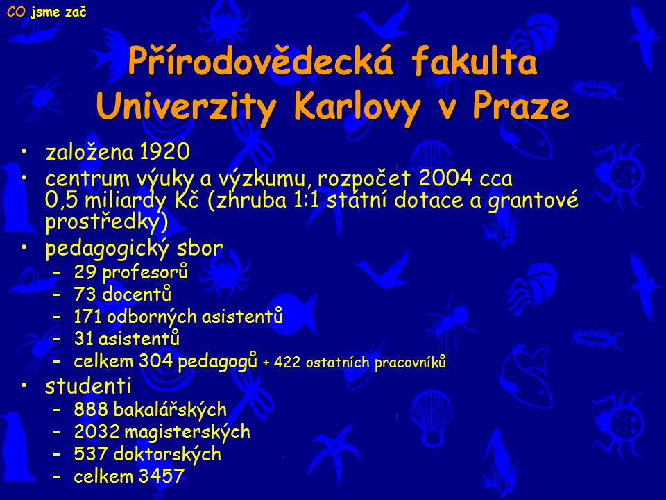 Přírodovědecká fakulta Univerzity Karlovy v Praze