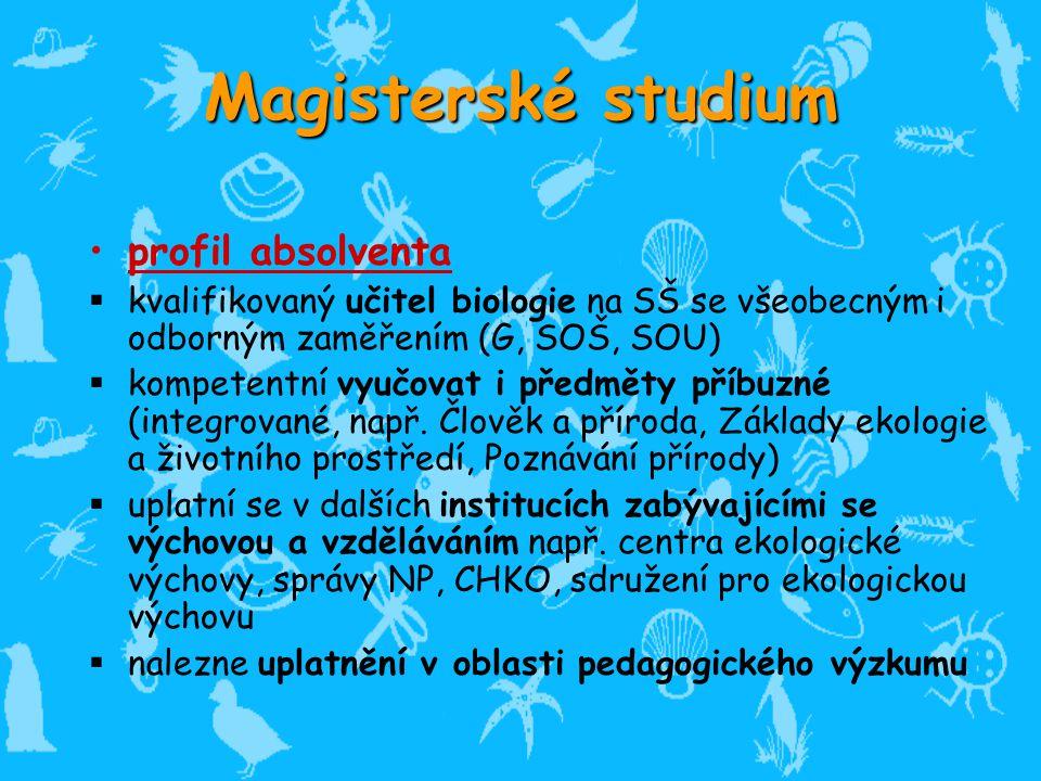 Magisterské studium profil absolventa
