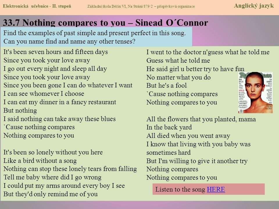 33.7 Nothing compares to you – Sinead O´Connor