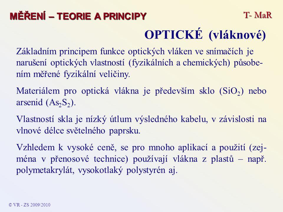 OPTICKÉ (vláknové) T- MaR MĚŘENÍ – TEORIE A PRINCIPY