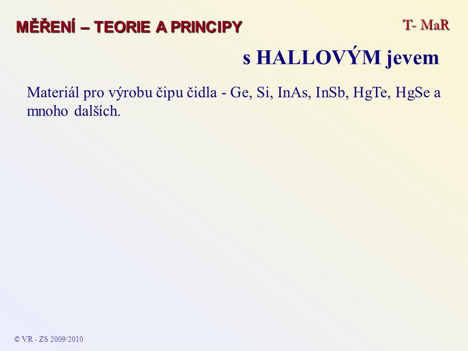 s HALLOVÝM jevem T- MaR MĚŘENÍ – TEORIE A PRINCIPY