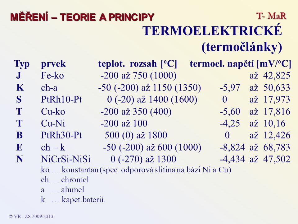 TERMOELEKTRICKÉ (termočlánky)