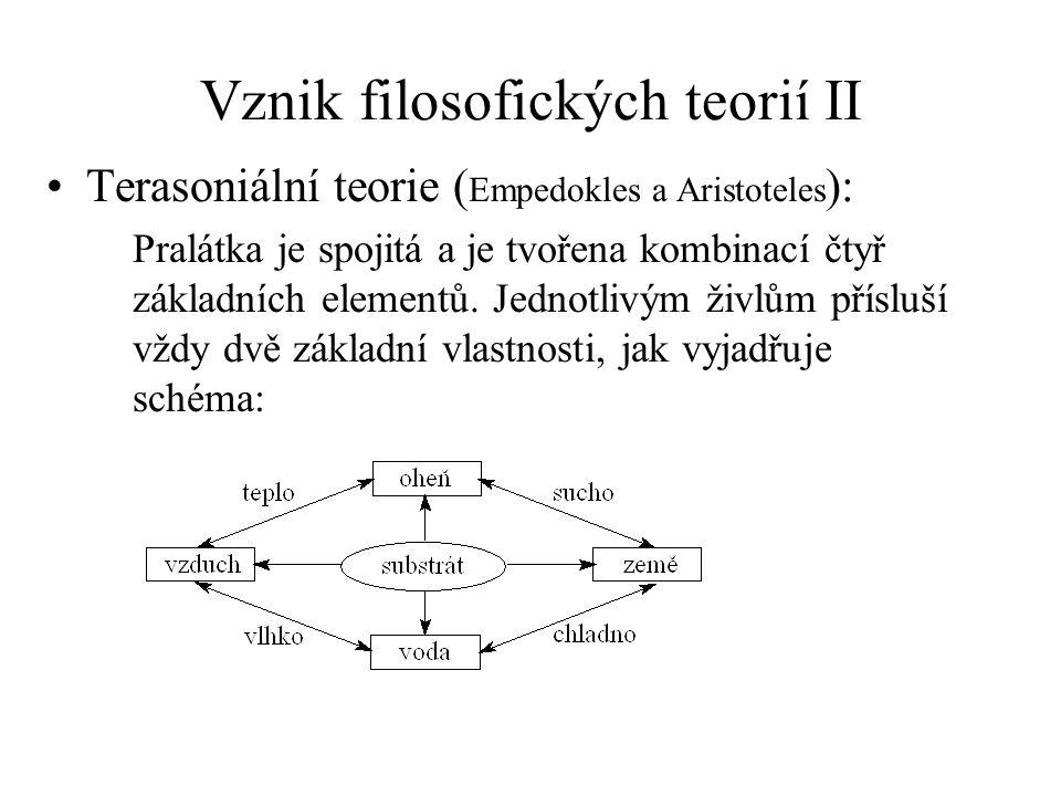 Vznik filosofických teorií II