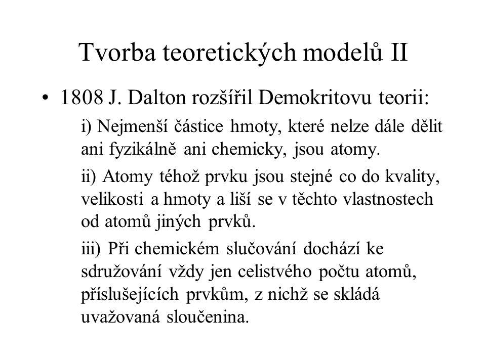 Tvorba teoretických modelů II