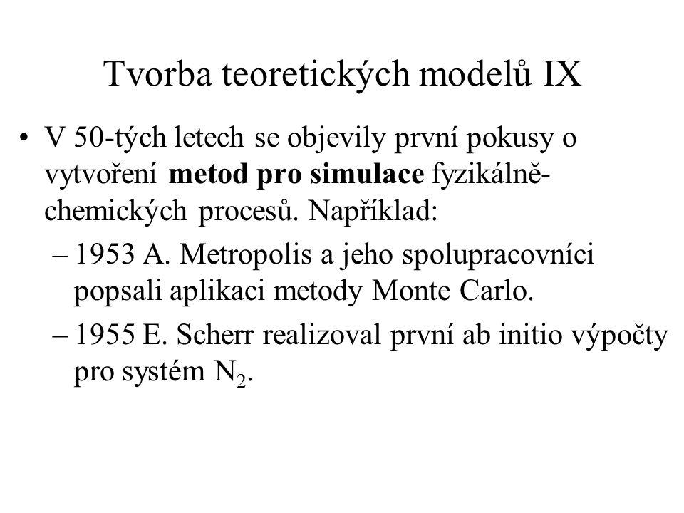 Tvorba teoretických modelů IX