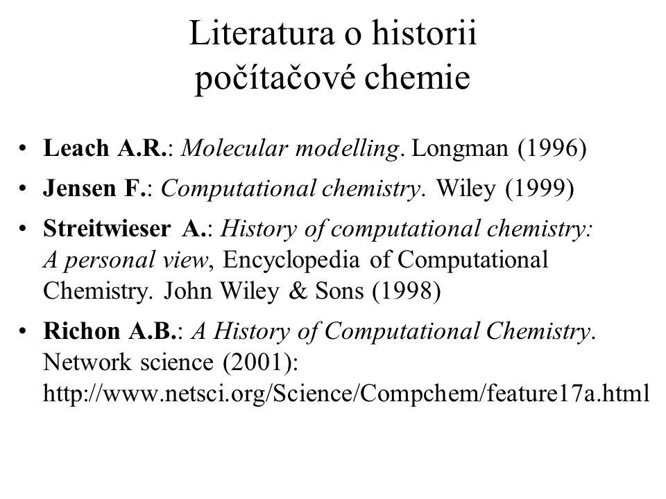 Literatura o historii počítačové chemie