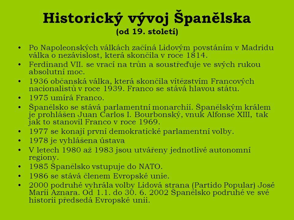 Historický vývoj Španělska (od 19. století)