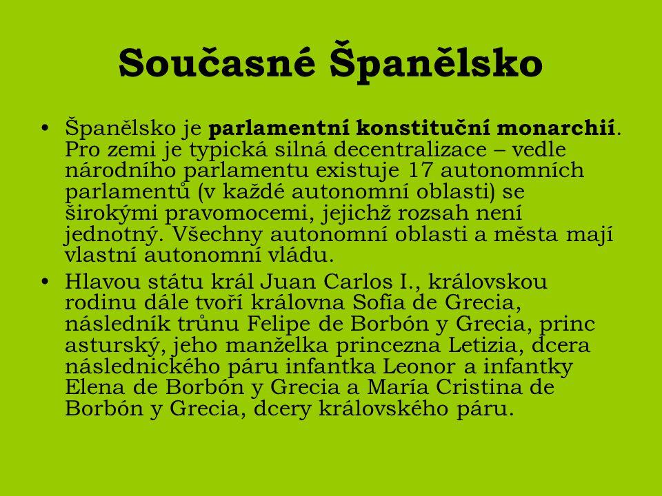 Současné Španělsko