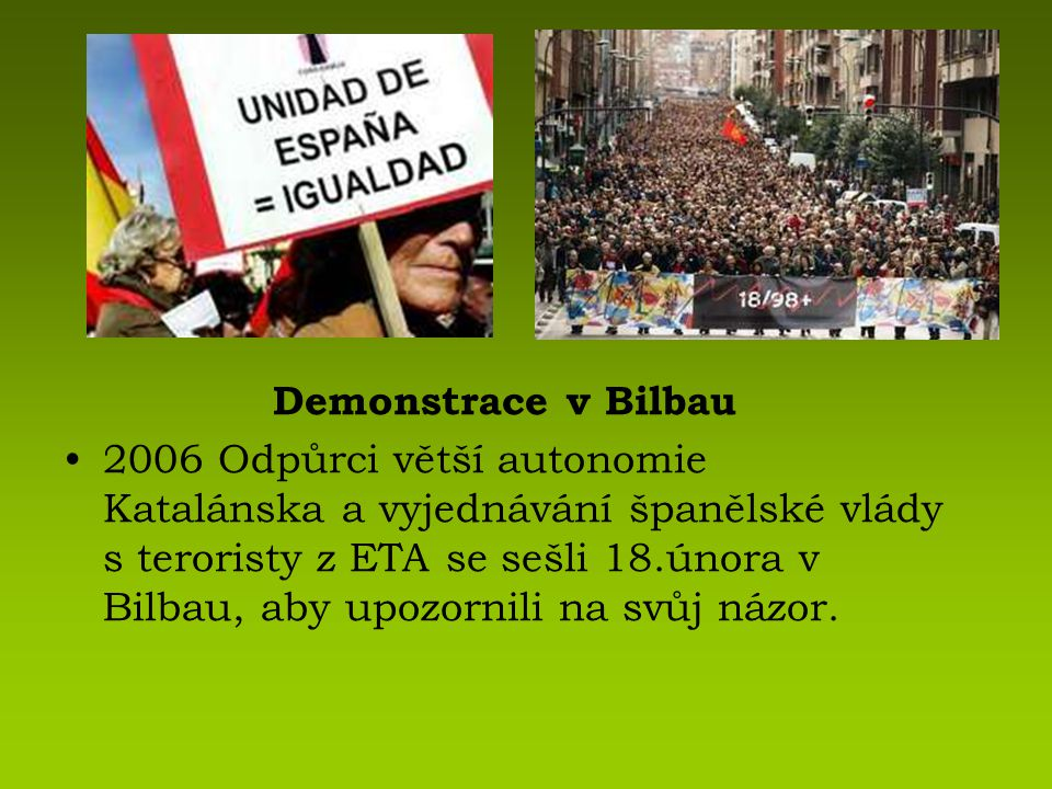 Demonstrace v Bilbau