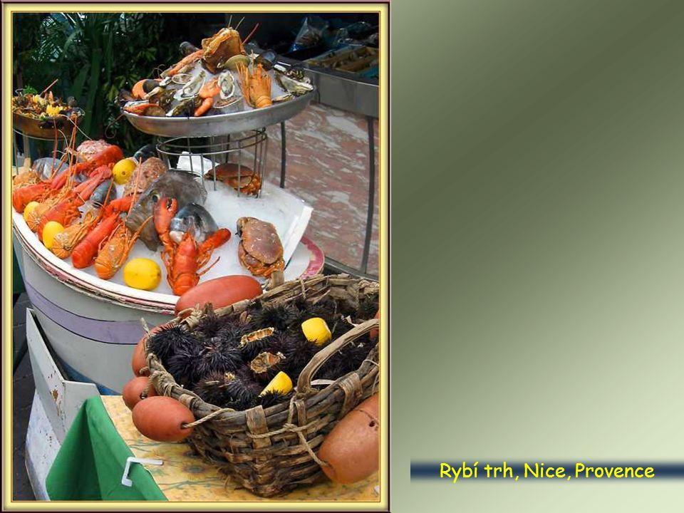 Rybí trh, Nice, Provence