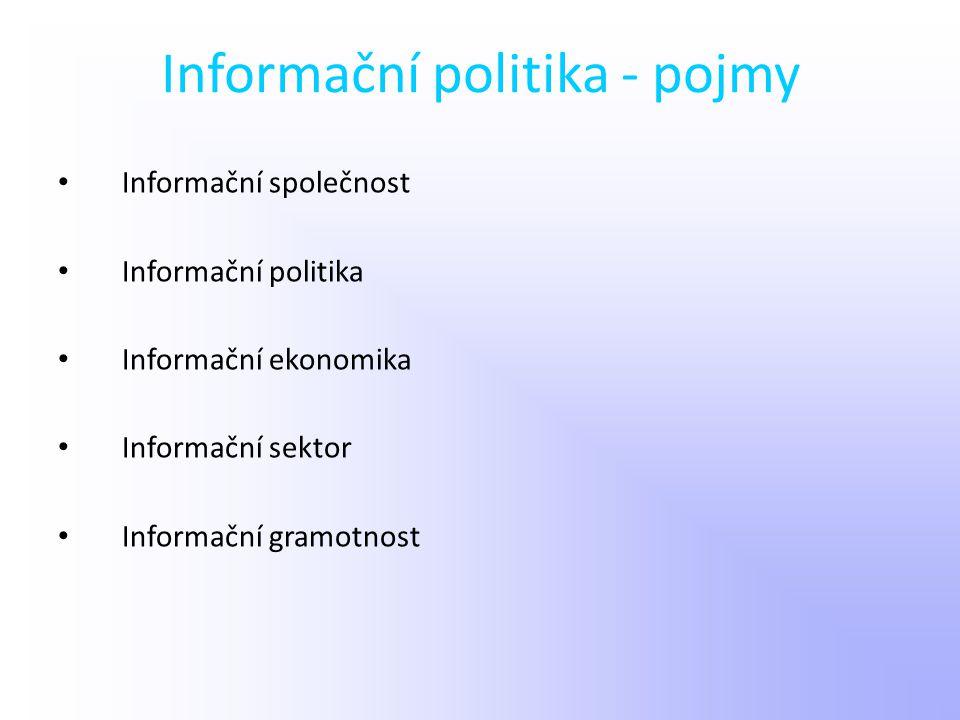 Informační politika - pojmy