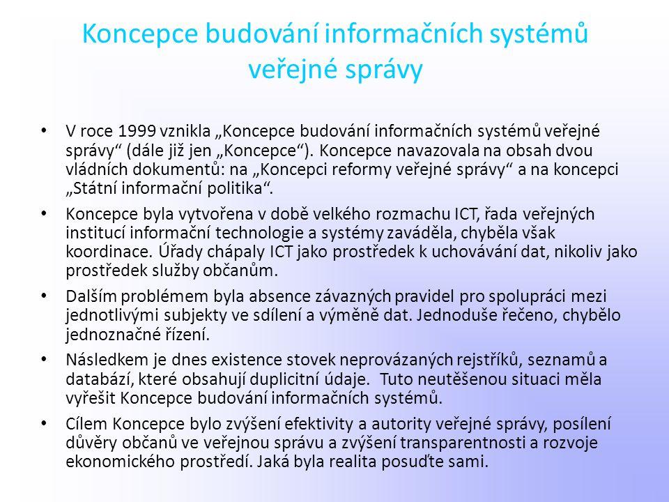 Koncepce budování informačních systémů veřejné správy