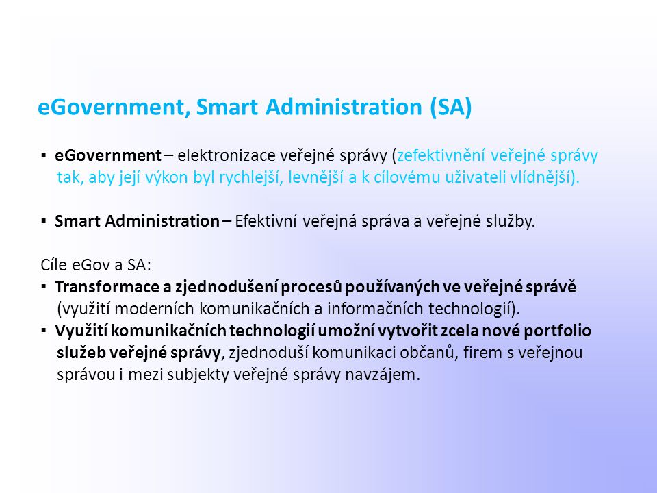 eGovernment, Smart Administration (SA)