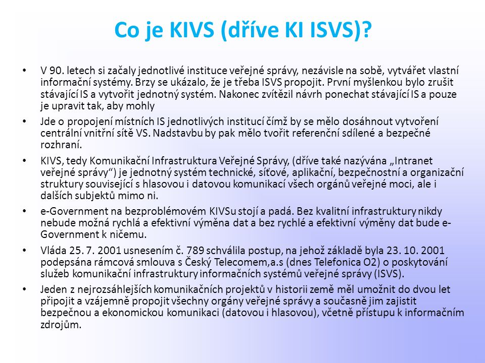 Co je KIVS (dříve KI ISVS)