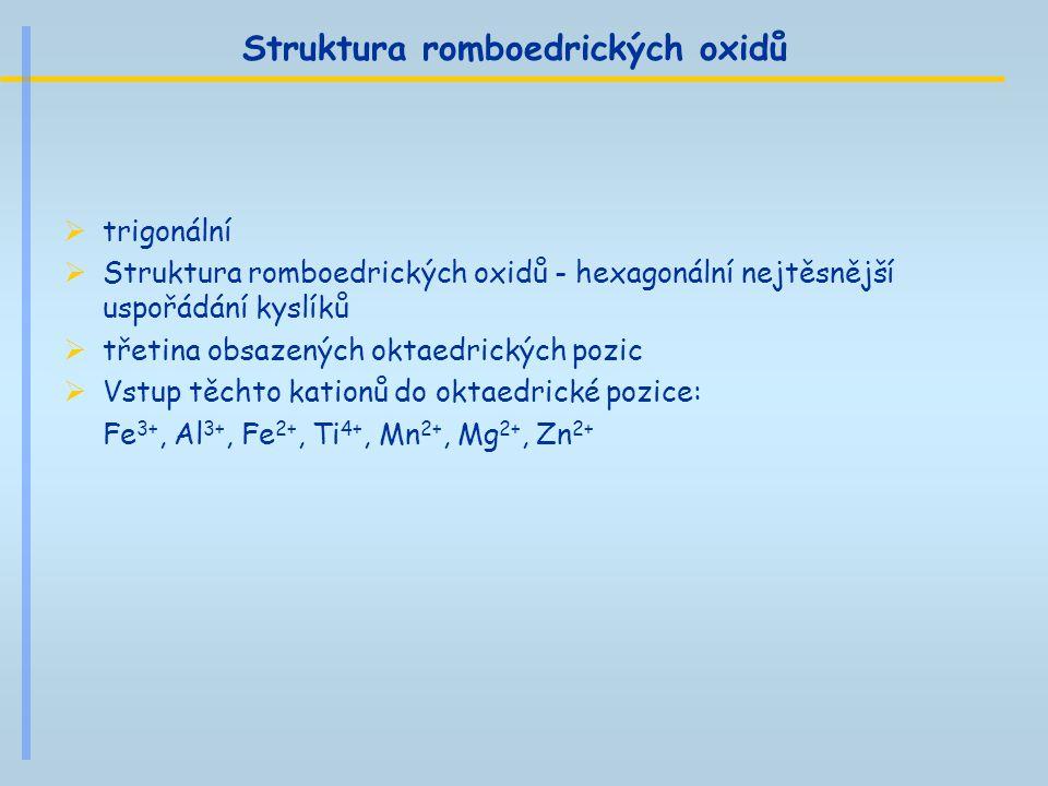 Struktura romboedrických oxidů