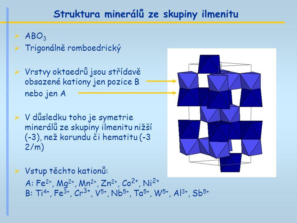 Struktura minerálů ze skupiny ilmenitu