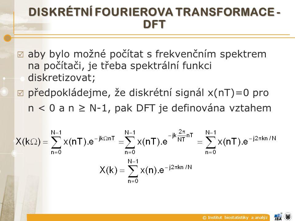 DISKRÉTNÍ FOURIEROVA TRANSFORMACE - DFT
